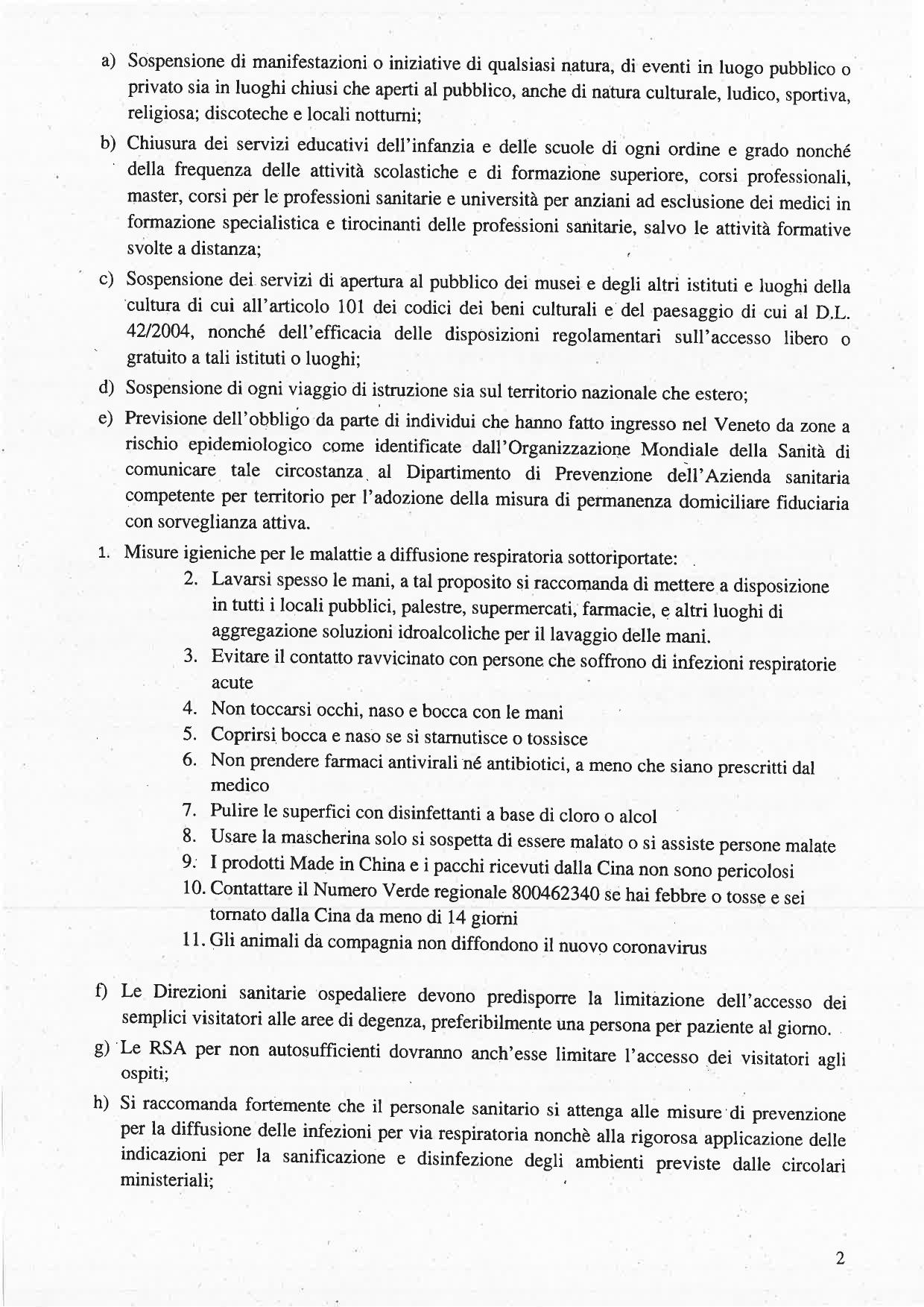 Ordinanza n. 1 23.02.2020 - 2